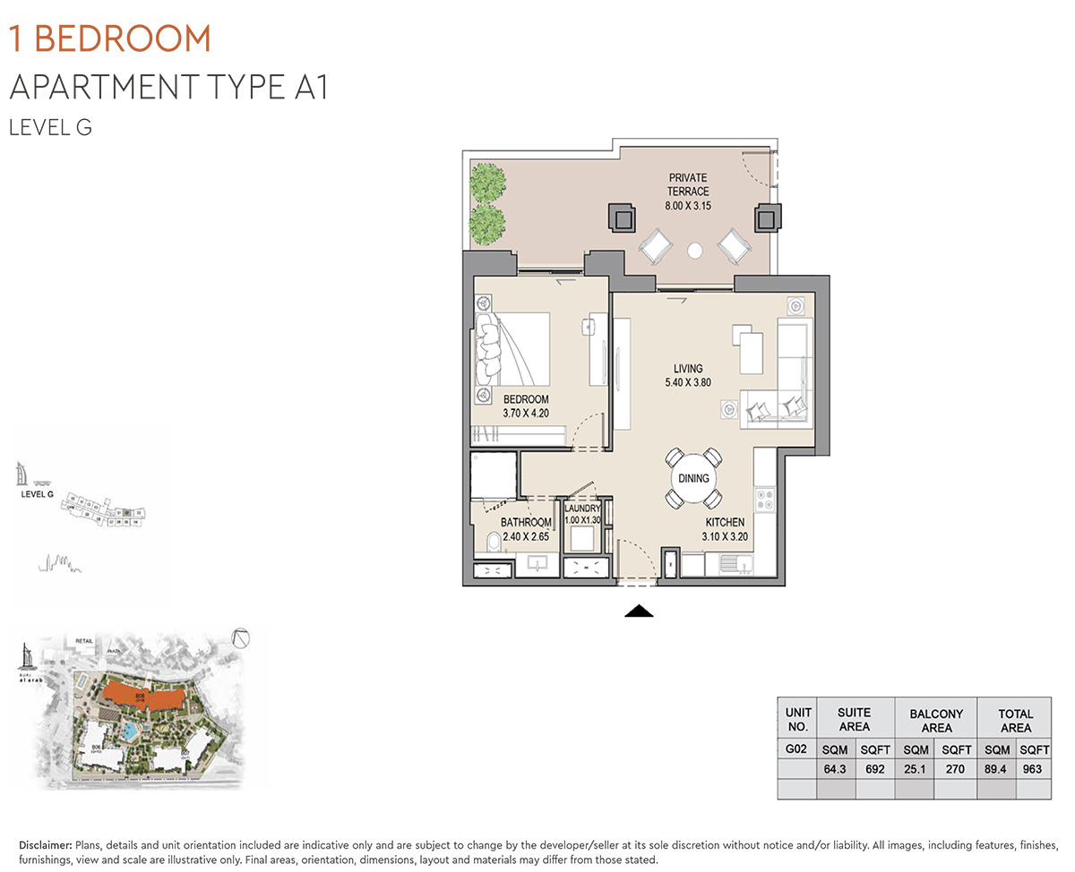 https://drehomes.com/wp-content/uploads/1-Bedroom-Apartment-Type-A1-Level-G-963-SqFt-2.jpg