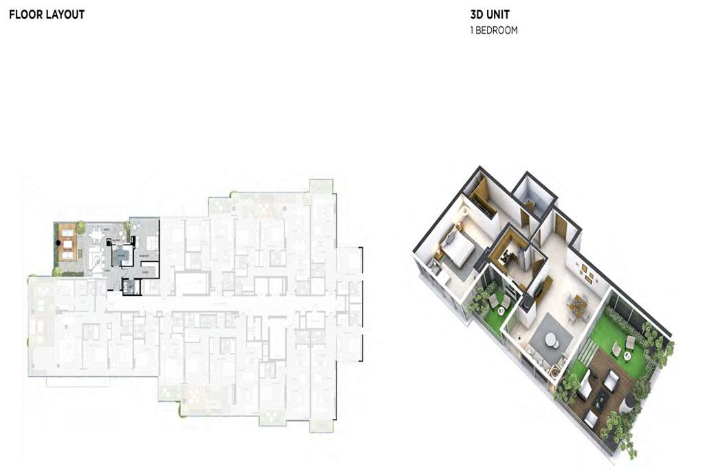 1 Bedroom Floor Layout 1
