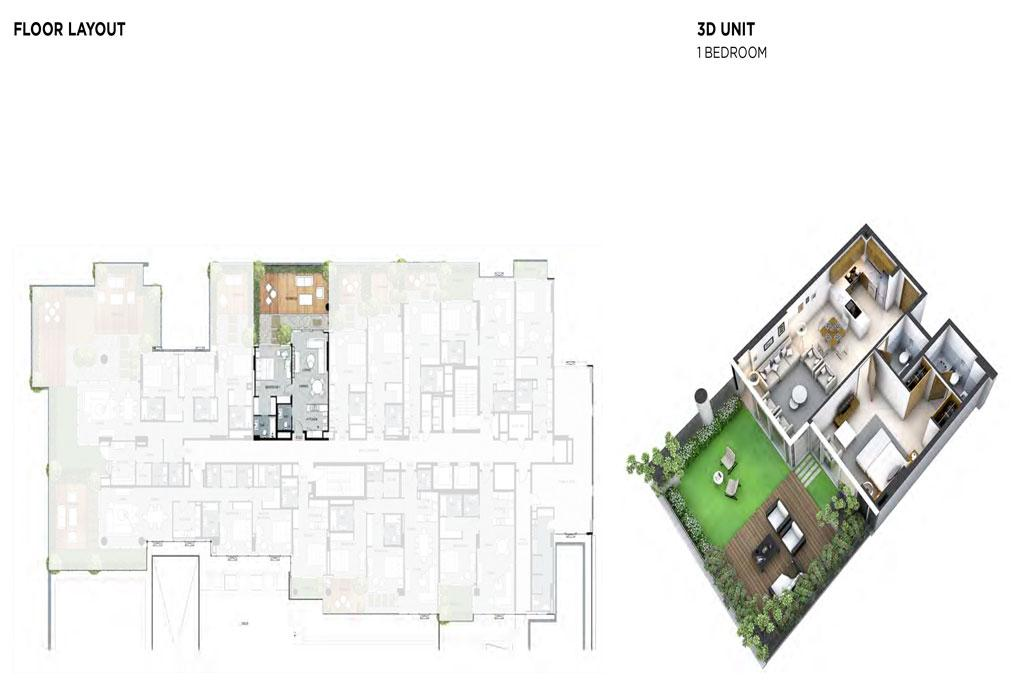 1 Bedroom Floor Layout 2