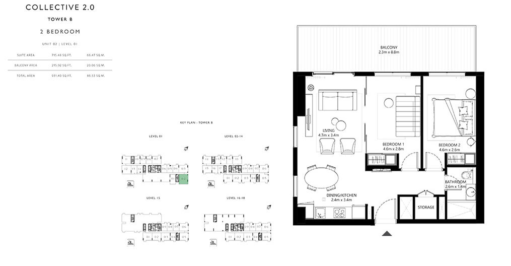 2 Bedroom Unit 02 Tower B