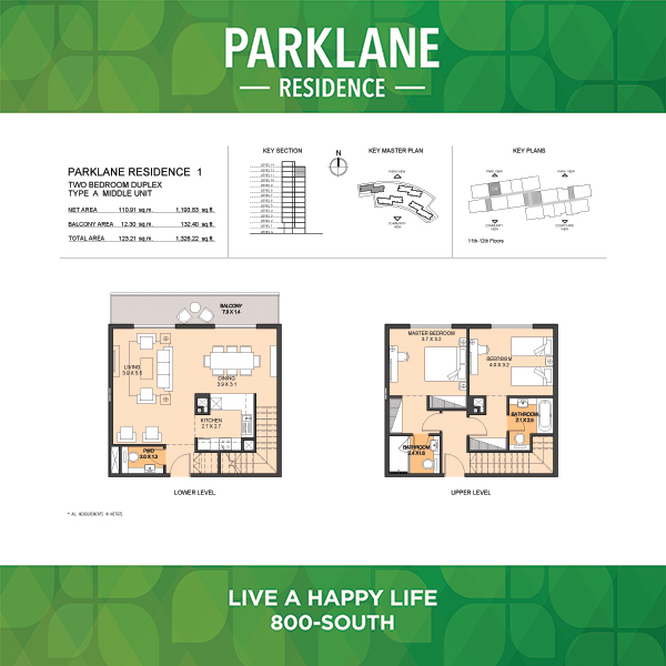 2 Bedroom Apartment Duplex Type A Parklane Residence