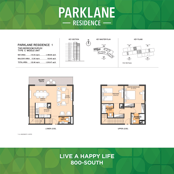 2 Bedroom Apartment Duplex Type C Parklane Residence