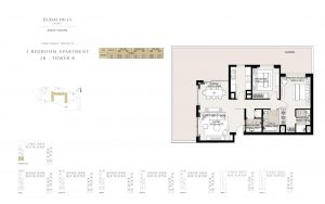 2 Bedroom Apartment Tower B 1897.47sqft