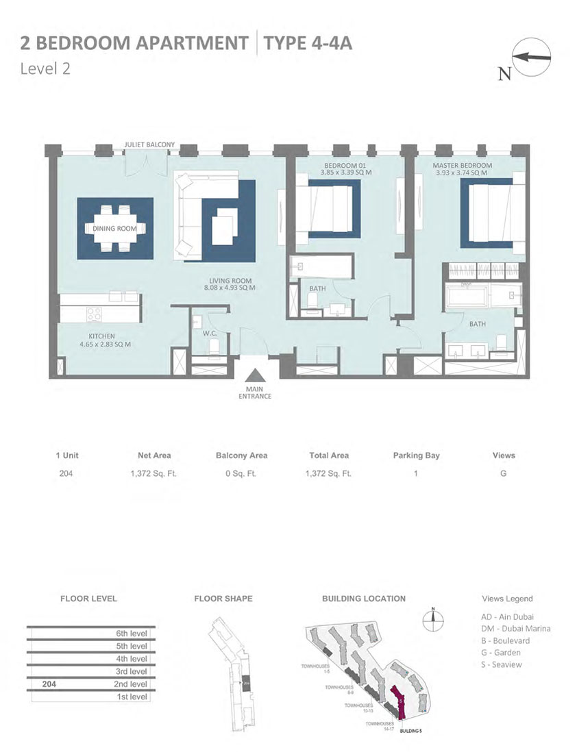 https://drehomes.com/wp-content/uploads/2-Bedroom-Apartment-Type-4-4A-Level-2-1372SqFt.jpg