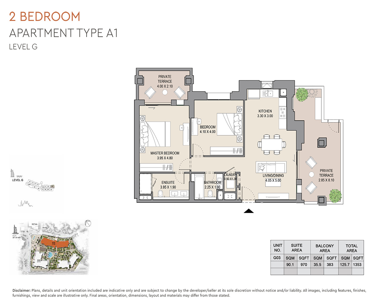 https://drehomes.com/wp-content/uploads/2-Bedroom-Apartment-Type-A1-Level-G-1353-SqFt-2.jpg