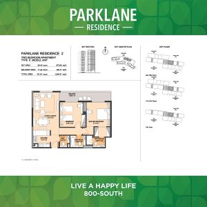 2 Bedroom Apartment Type E Corner Unit Parklane Residence
