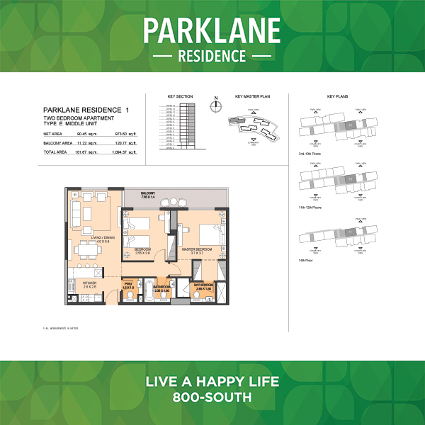 2 Bedroom Apartment Type E Parklane Residence