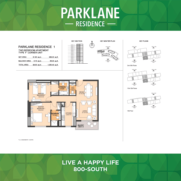 2 Bedroom Apartment Type F Parklane Residence