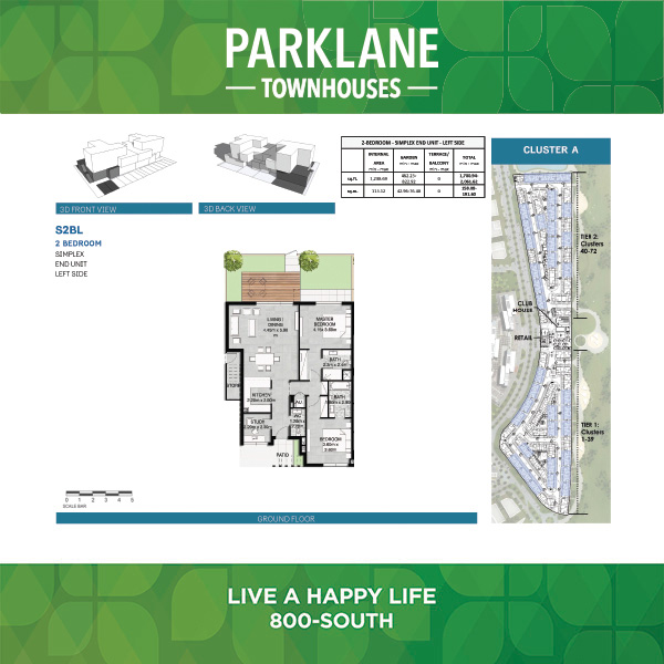 2 Bedroom D2bl Parklane Townhouses
