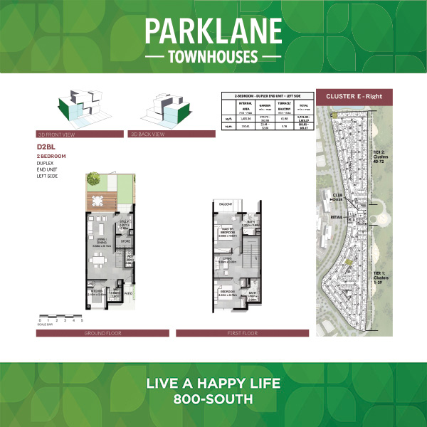 2 Bedroom D2blg Parklane Townhouses