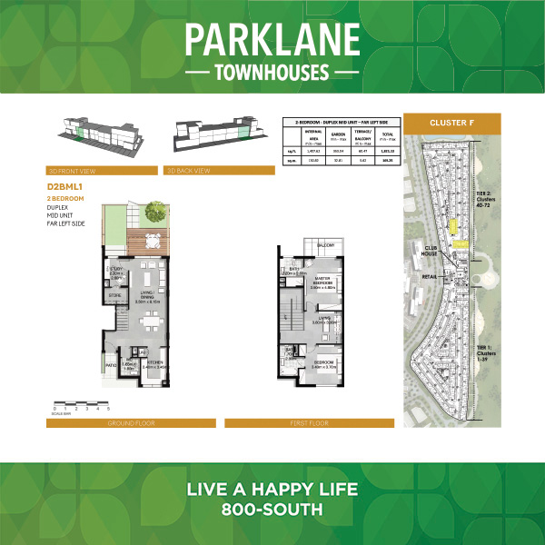 2 Bedroom D2bml1 Parklane Townhouses