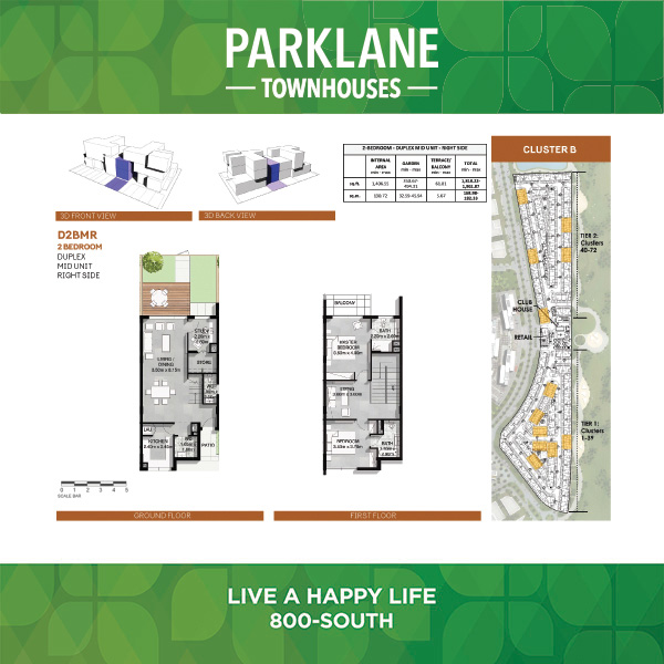 2 Bedroom D2bmr Parklane Townhouses