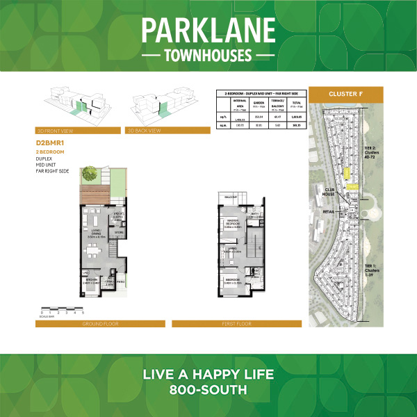 2 Bedroom D2bmr1 Parklane Townhouses