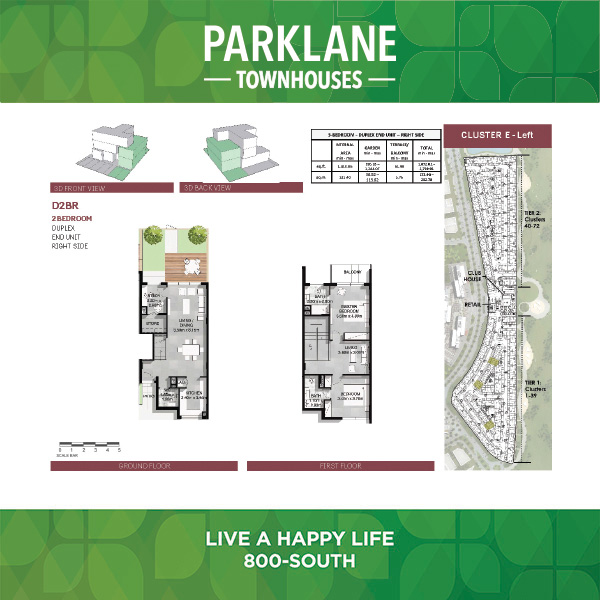 2 Bedroom D2brparklane Townhouses