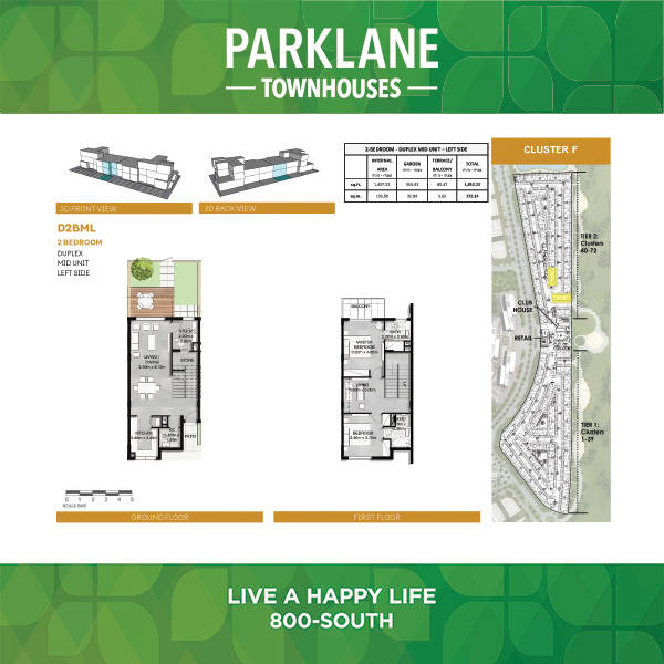 2 Bedroom Dd2bml Parklane Townhouses