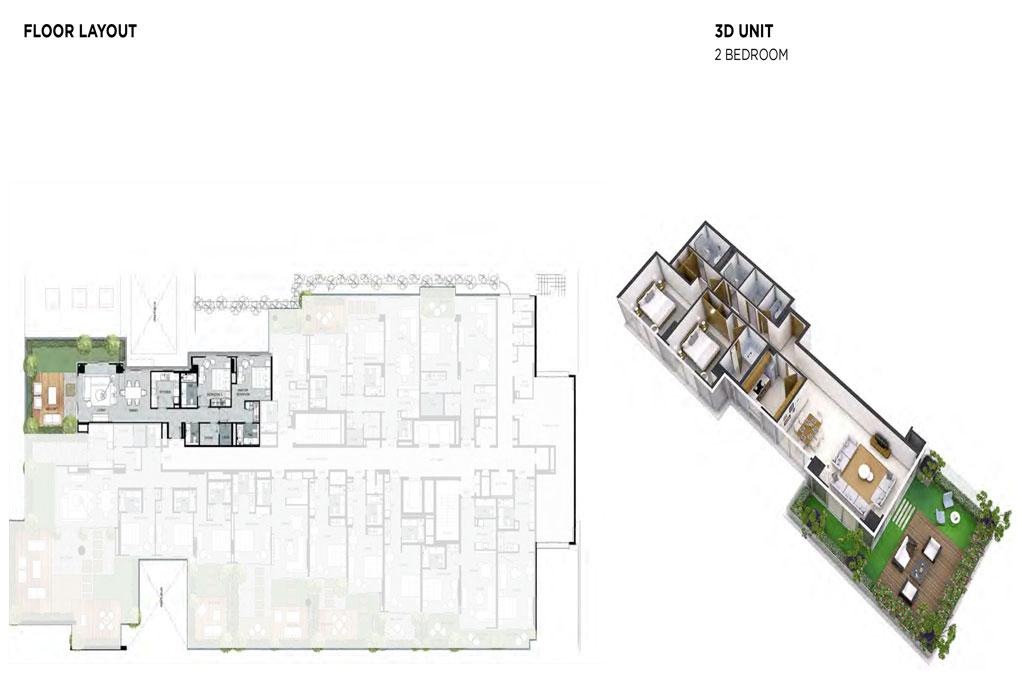 2 Bedroom Floor Layout 2