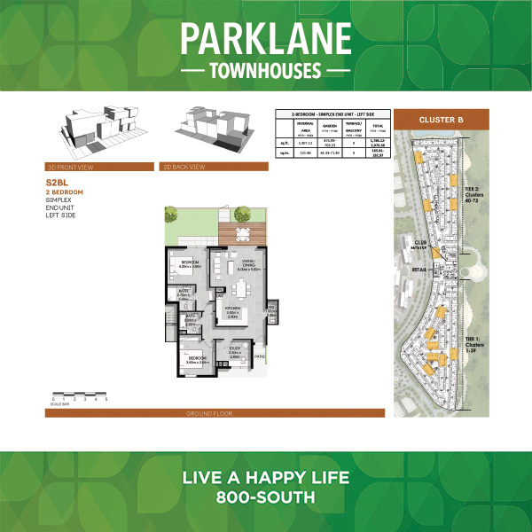 2 Bedroom S2bl Parklane Townhouses