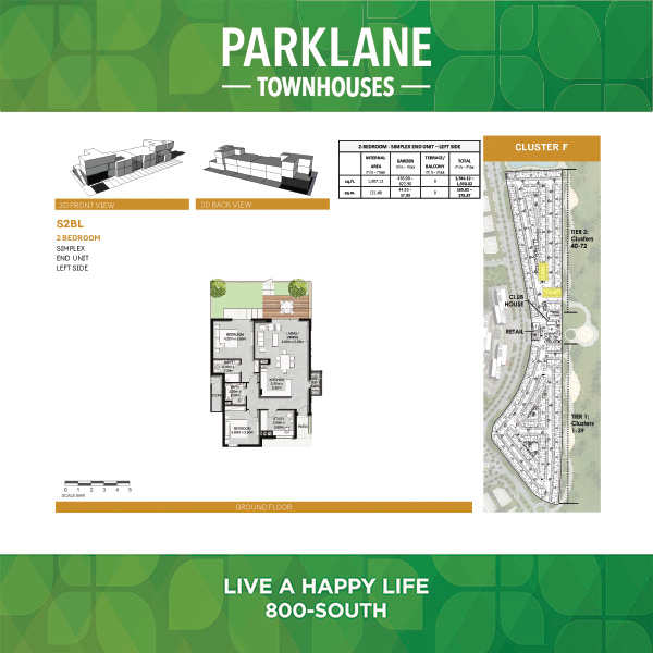2 Bedroom S2bl1 Parklane Townhouses