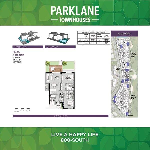 2 Bedroom S2blg Parklane Townhouses