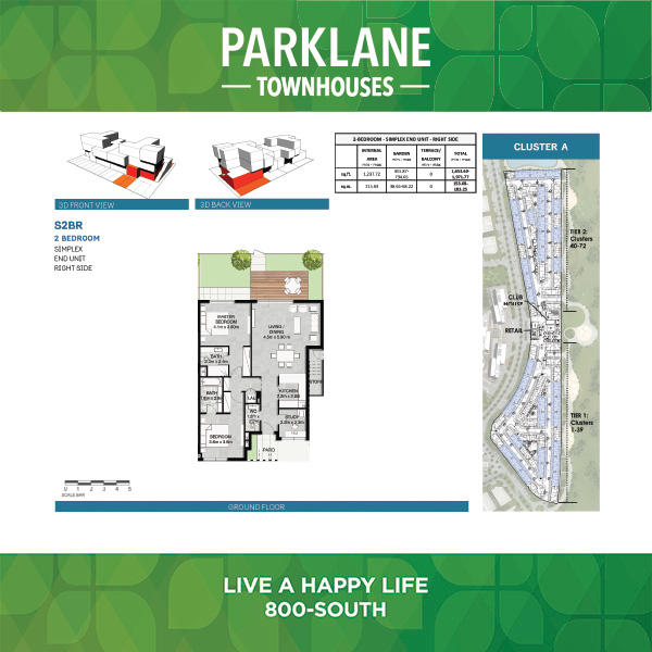 2 Bedroom S2br Parklane Townhouses