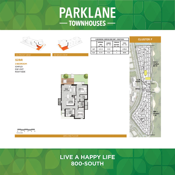 2 Bedroom S2br1 Parklane Townhouses