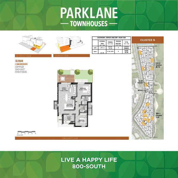 2 Bedroom S2brg Parklane Townhouses
