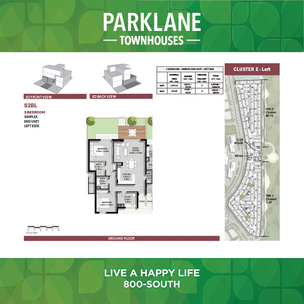 2 Bedroom Ss2blg Parklane Townhouses
