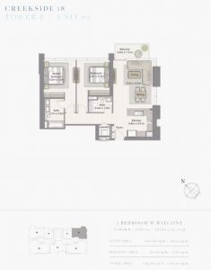 2-Bedroom-W-Balcony-Tower-B-Unit-02-1134-SqFt