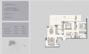 2-Bedrooms-Unit-01-Level-3,2069-79SqFt