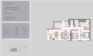 2-Bedrooms-Unit-02-Level-4-15,17-32,1567-01SqFt