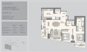 2-Bedrooms-Unit-03-Level-3-15,17-34,1635-68SqFt