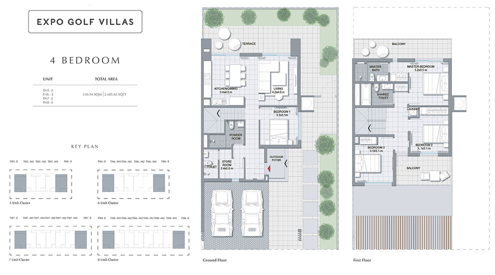 Expo Golf Villas Floor Plan