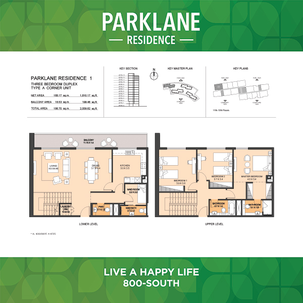 3 Bedroom Apartment Duplex Type A Parklane Residence