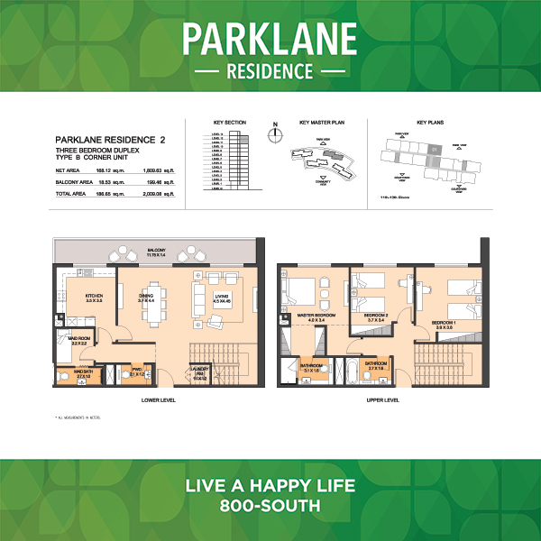 3 Bedroom Apartment Duplex Type B Corner Unit Parklane Residence