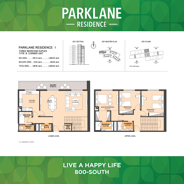 3 Bedroom Apartment Duplex Type B Parklane Residence