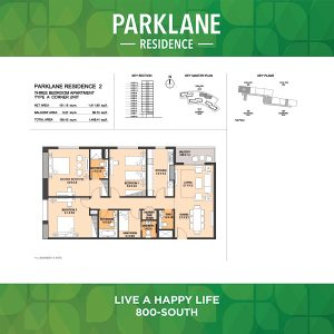 3 Bedroom Apartment Type A Corner Unit Parklane Residence