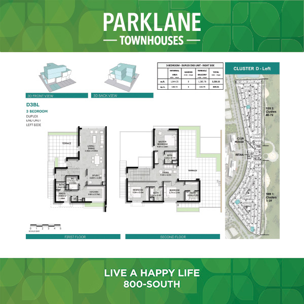 3 Bedroom D3blg Parklane Townhouses
