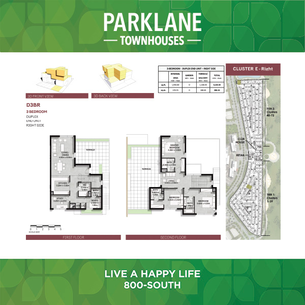 3 Bedroom D3brg Parklane Townhouses