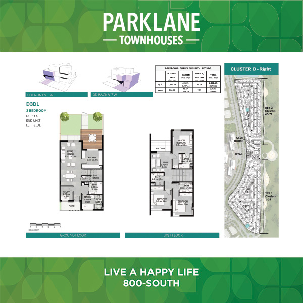 3 Bedroom Dd3bl Parklane Townhouses