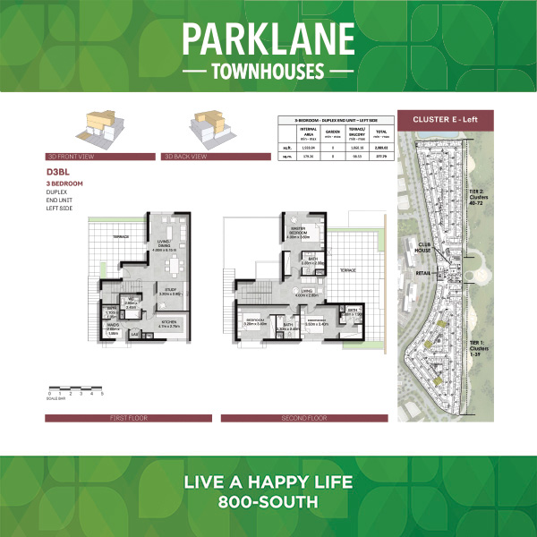 3 Bedroom Dd3blg Parklane Townhouses