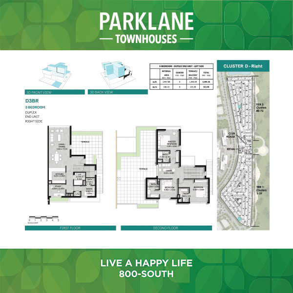 3 Bedroom Dd3br Parklane Townhouses