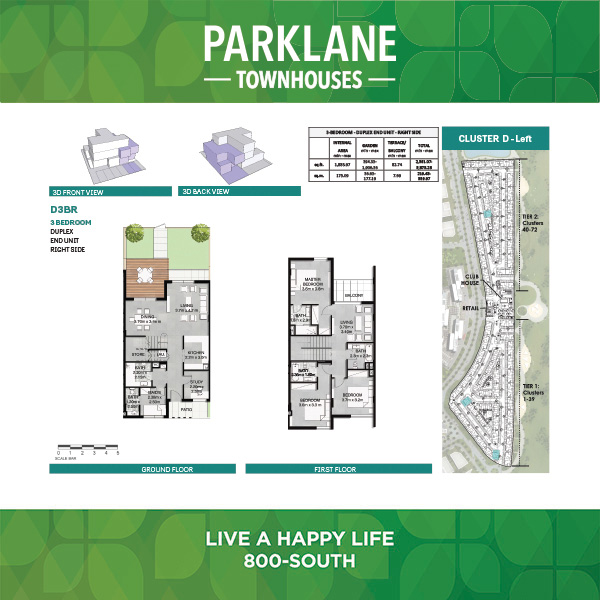 3 Bedroom Dd3brg Parklane Townhouses