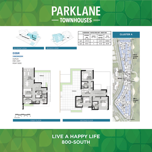 3 Bedroom Duplex D3br Parklane Townhouses