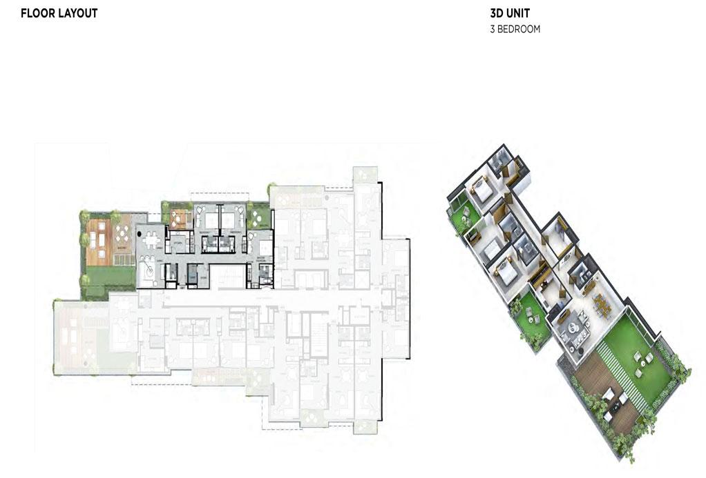 3 Bedroom Floor Layout 2