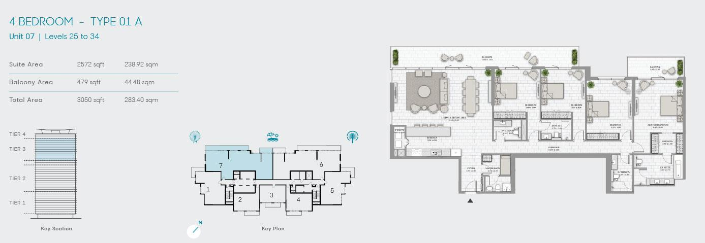 4 Bedroom Type 01 A Unit 7 3050sqft