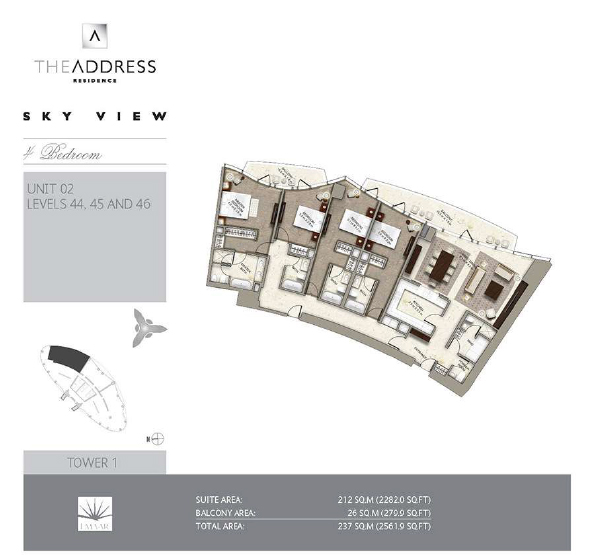 Address Sky View Floor plan