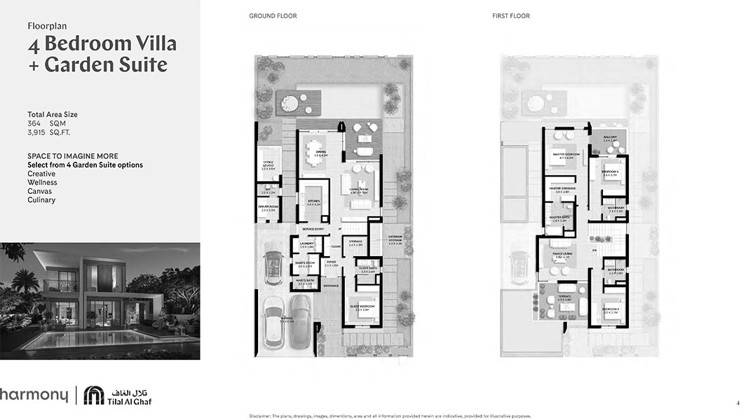 4 Bedroom Villa Garden Suite