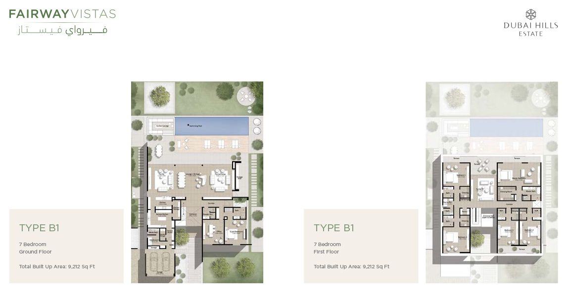 Fairways Vistas floor plans