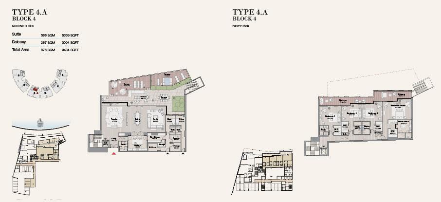 Block 4 Type 4 A Ground Floor 9434sqft