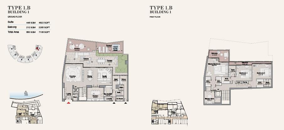 Building 1 Type 1 B Ground Floor 7108sqft